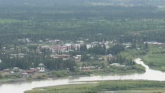 Aerial view of the city of Fairbanks, Alaska