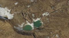 Pools of water in the Tordrillo Mountains