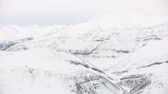 Snow on the rugged Brooks Range mountains