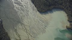 UHD aerials of patterns in Alaska intertidal rivers and bays