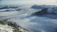 UHD aerial patterns in glacial ice glacier Bay Alaska