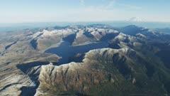 UHD aerials of Spirit Lake at mount saint helens