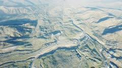 UHD 7k aerial of Mount Saint Helens volcano ring of fire