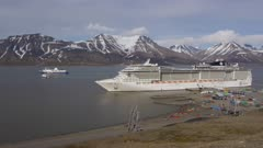 Cruise Ship Aerials at Longyearbyen, Svalbard