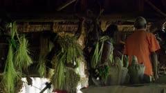 warriors make final preparations for Flute Dance Ceremony