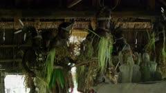 warriors start gathering for  Flute Dance Ceremony