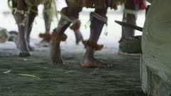 feet detail of dancers during  Flute Dance Ceremony