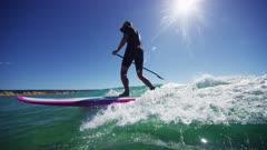 Children Riding Waves At Double Island, Australia