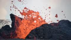 Exploding Lava Kilauea Volcano
