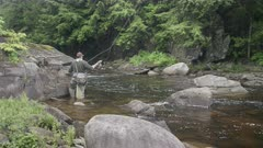 Fly Fishing Small Stream in Maine