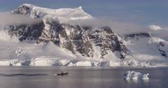 Inflatable Boat in Antarctica