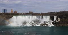 4K UltraHD The American Falls on a warm spring day