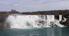 4K UltraHD The American Falls on a beautiful spring day