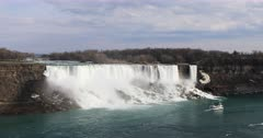 4K UltraHD The American Falls on a spring day