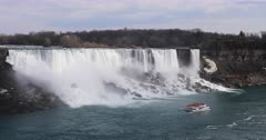 4K UltraHD The American Falls on a beautiful day