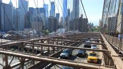 4K UltraHD Timelapse of the traffic on the Brooklyn Bridge