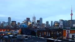 4K UltraHD Timelapse Toronto skyline over Chinatown