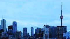 4K UltraHD Timelapse Toronto skyline from Chinatown