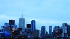 4K UltraHD Timelapse of Toronto skyline from Chinatown