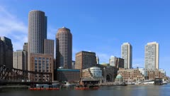 4K UltraHD Timelapse of the Boston, Massachusetts harbor skyline