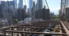 4K UltraHD View of the traffic on the Brooklyn Bridge