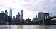 4K UltraHD Lower Manhattan and the Brooklyn Bridge