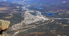 Aerial view of Jasper, Alberta 4K