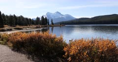 Maligne Lake in the Rocky Mountains 4K
