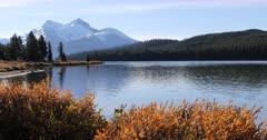 Maligne Lake near Jasper in the Rocky Mountains 4K