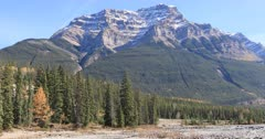 Rocky Mountain view in autumn 4K
