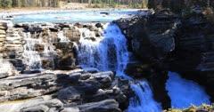 Athabasca Falls in Jasper National Park 4K