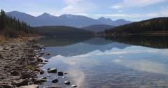 Lake reflections near Jasper in the Rocky Mountains 4K