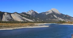 Athabasca River in the Rocky Mountains 4K