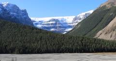 Glacier in Jasper National Park 4K