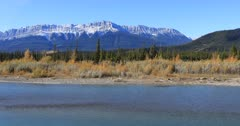 Athabasca River in the Rocky Mountains near Jasper 4K