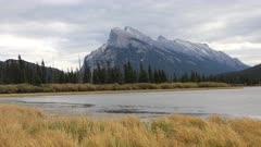 Timelapse Mount Rundle near Banff, Alberta 4K