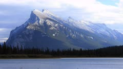 Timelapse Vermillion Lakes and Mount Rundle near Banff, Canada 4K