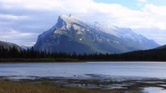 Timelapse Vermillion Lakes and Mount Rundle near Banff, Alberta 4K