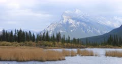 Vermillion Lakes and Mount Rundle near Banff, Alberta 4K