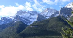 Mountain view in Banff National Park, Canada 4K