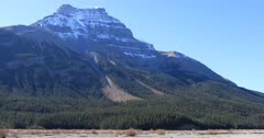 Mountain view in Banff National Park in Alberta 4K