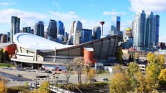 Timelapse of the Calgary, Alberta city center 4K