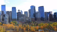 Timelapse Calgary, Alberta city center 4K