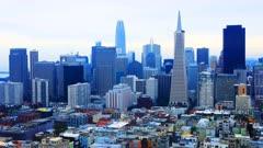 Timelapse of the San Francisco, California city center 4K