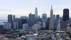 Timelapse of San Francisco, California city center 4K