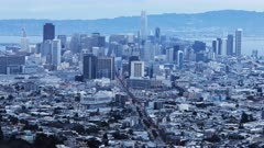 Twilight timelapse of San Francisco city center 4K