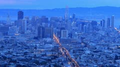 Day to night timelapse of San Francisco, California 4K