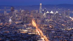Night to day timelapse of San Francisco, California 4K