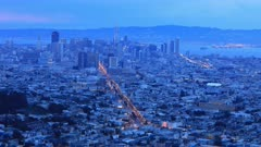 Day to night timelapse of San Francisco 4K