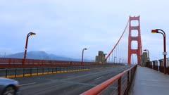 Timelapse of traffic on the Golden Gate Bridge 4K